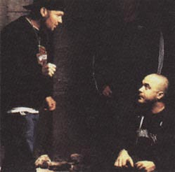Aaron working with Fred Durst on a music video.